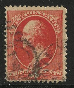 US-Scott-214-Single-1887-George-Washington-3c-Fine-Used