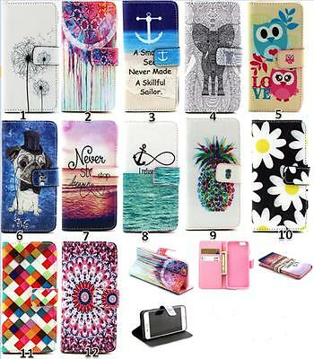 New Pattern Wallet Stand Flip Slim Magnetic Leather Case For iPhone 4S 5S 6