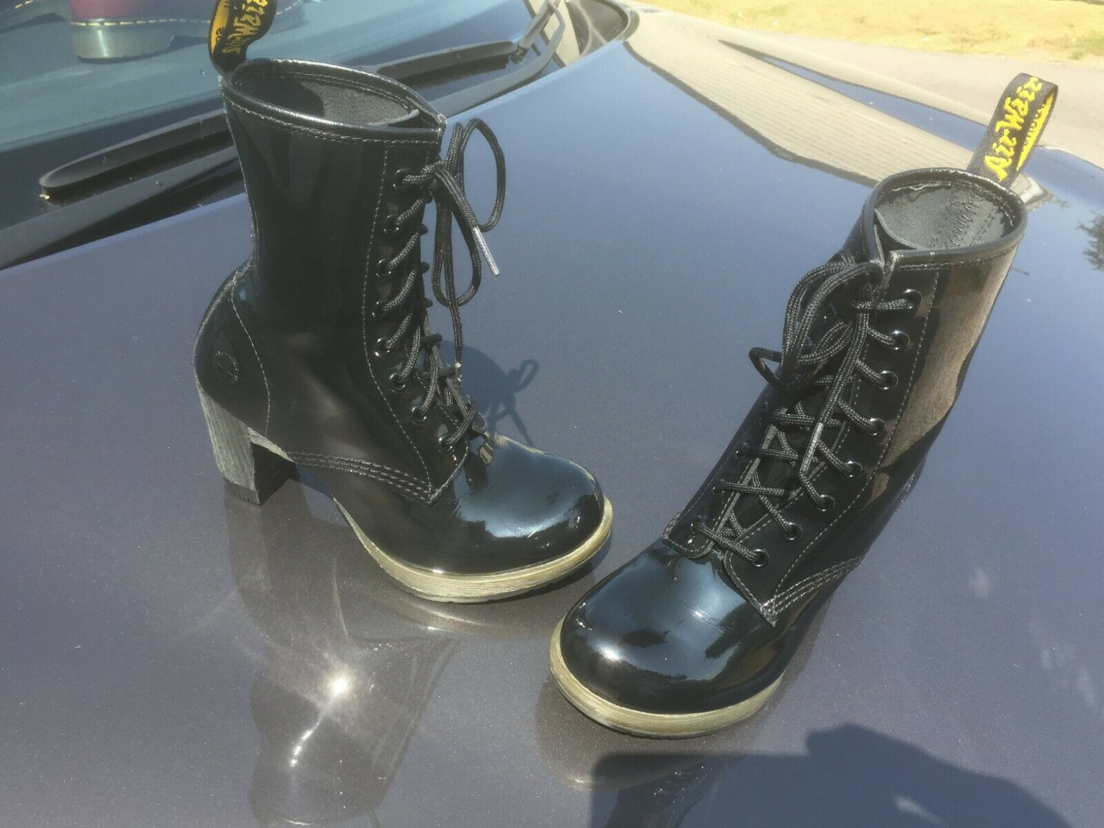 Dr Martens Darcie schwarz patent leather Stiefel UK 3 EU 36