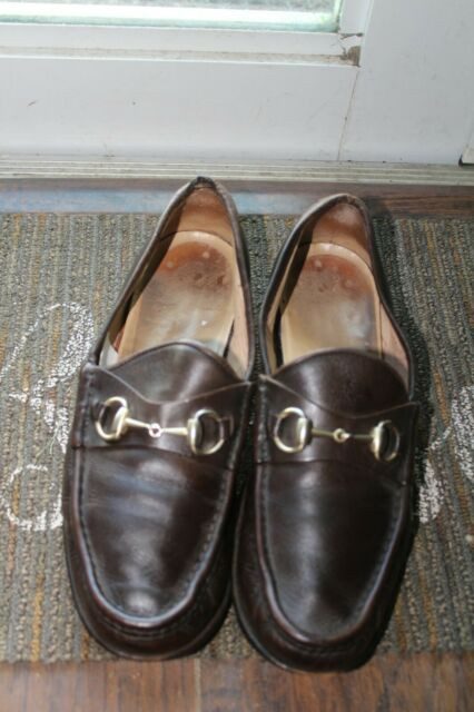Caligola Brown Leather Stripe Horsebit