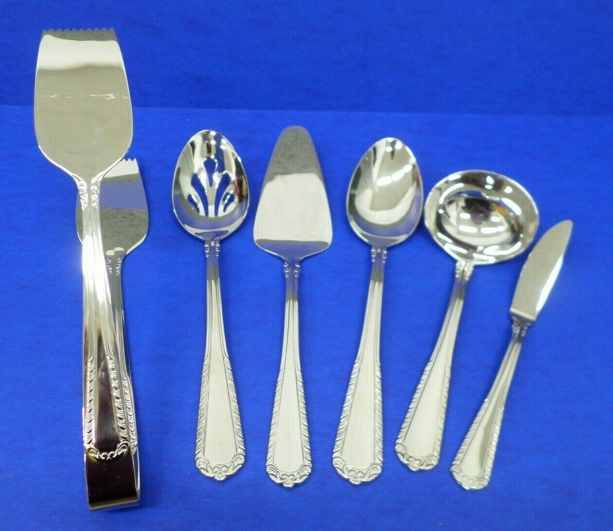 6 - Reed & Barton SURREY Glossy 18 10 Stainless Flatware HOSTESS SERVING PIECES