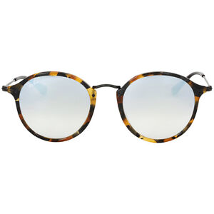 Ray-Ban Round Fleck Flash Grey Gradient Lens Sunglasses RB2447 ... dc124bf7c7