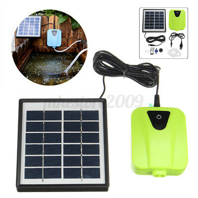 Air Pump Oxygenator Aerator for Fish Tank Pool Pond Rechargeable /& Solar Power