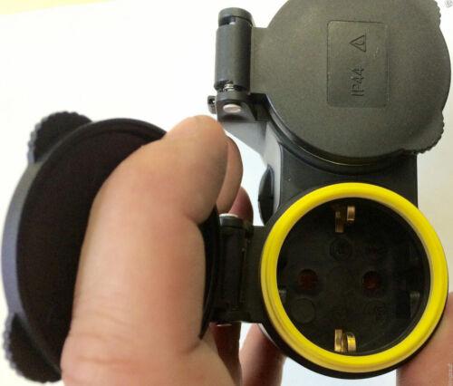 EF Schutzkontaktkupplung GUMMI Doppel 1 Stück Schuko Kupplung IP44 STECKER,S XX
