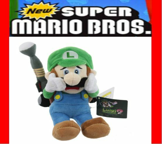 Sanei Super Mario Series 10inch Luigi S Mansion Plush Doll Luigi Scared Strobulb