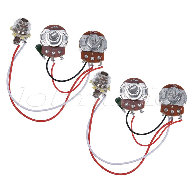 Wiring Harness Prewired Kit for Precision Bass Guitar 250K Pots ...
