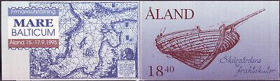 1995 Finnland Aland-inseln Markenheft Mh 3 Segelboote Schiff Fischerboot ** Mnh Verbraucher Zuerst