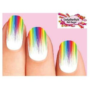 Image Is Loading Waterslide Full Nail Decals Set Of 10 Colorful
