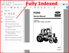 Ford 8000 8600 9000 9600 Tractor Factory Service Workshop Repair Manual