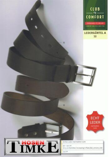 CLUB of COMFORT Stretch Leder Gürtel schwarz Gr 105 cm