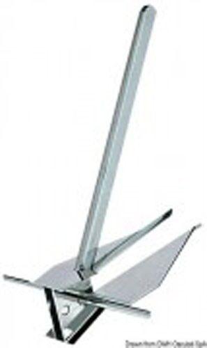 Danforth Edelstahl Anker 28 kg - 740mmx600mmx390mm -hochglanzpoliert u. rostfrei