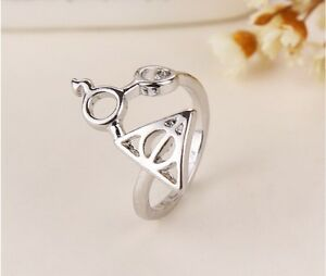 FREE-GIFT-BAG-Silver-Plated-Harry-Potter-Adjustable-Ring-Birthday-Cute-Magic