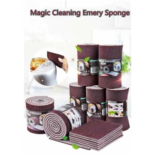 Kitchen Carborundum Sponge Pot Rust Sponge Eraser for Pan Pot Dish Sponges