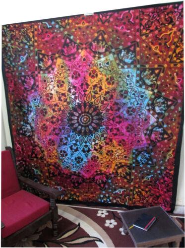 Queen Stern Mandala Hippie Wandteppich Indischer Wandbehang Boho Tagesdecke