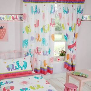 Patchwork Elephants 66 Quot X 72 Quot Lined Curtains With Tie