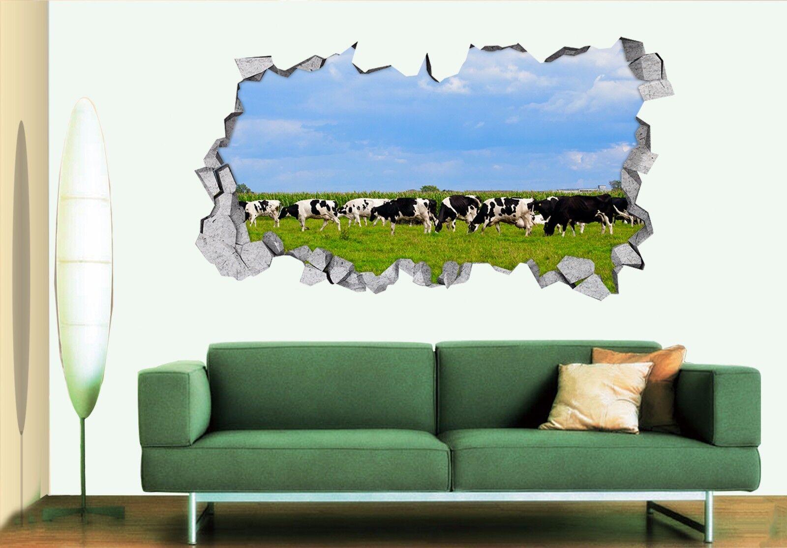 3D Milchkuh Ranch 7 Mauer Murals Mauer Aufklebe Decal Durchbruch AJ WALLPAPER DE