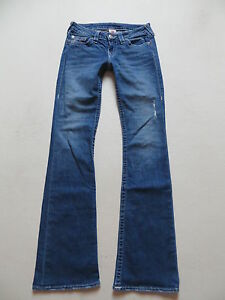 True-Religion-Schlag-Jeans-Hose-W-27-L-34-RAR-Vintage-Denim-Made-in-USA