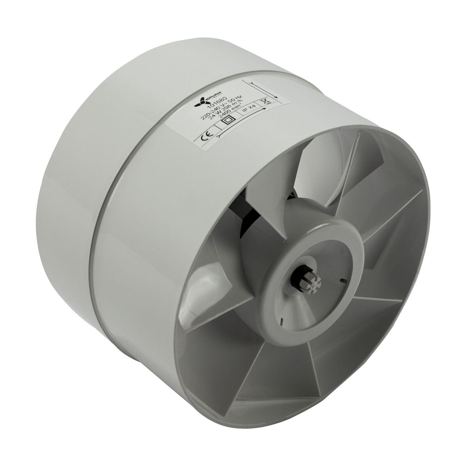 servizio premuroso In-line assiale TUBO VENTOLA 150 mm 298 m³ m³ m³ CLIMA VENTOLE  prezzi equi