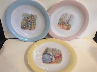 Pottery Barn Kids Beatrix Potter Melamine Plates Set Of