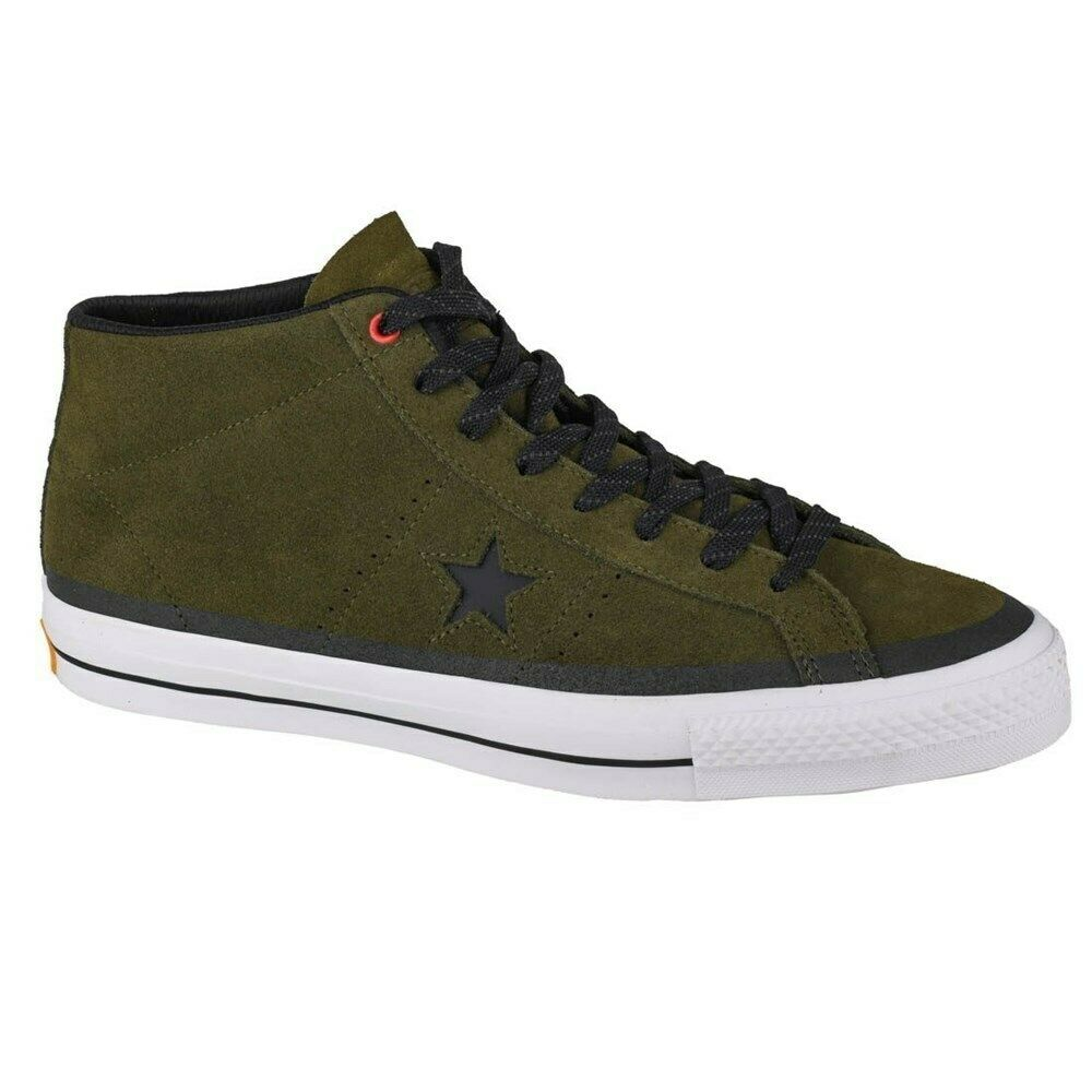 Shoes Universal Men Converse One Star Pro Suede Mid 153474C Olive