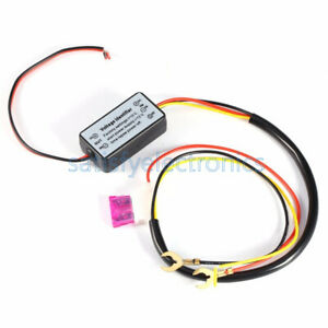 12V-Auto-CAR-LED-DAYTIME-RUNNING-LIGHT-RELAY-HARNESS-DRL-CONTROL-DIMMER-ON-OFF