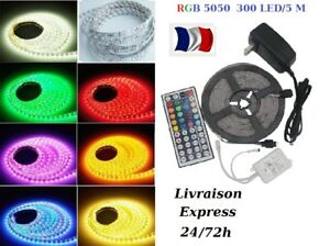 1-30m-Bande-Ruban-LED-Strip-Flexible-RGB-5050-SMD-Etanche-Fete-deco-led-SS-48-H
