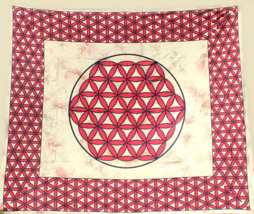 "plafond traditional India wall hangings /""fleur de la vie/"" wandtuch Budawi ®"