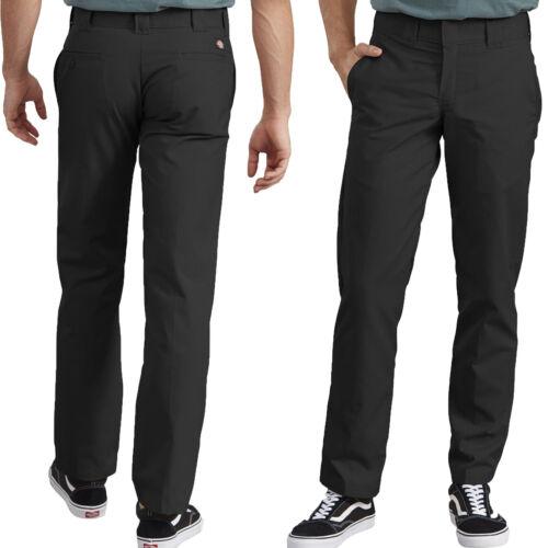Mens Work Pants Dickies Slim Straight Fit Poplin Work Pants