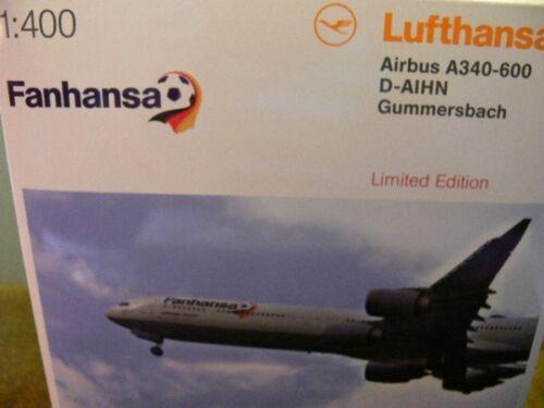 1//400 Herpa Airbus A340-600 Lufthansa Fanhansa 562492