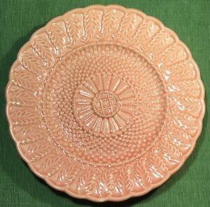 Bordallo pinheiro portugal pink 8 plate basket weave fern leaf majolica ebay - Bordallo pinheiro portugal ...