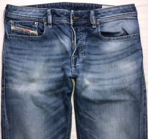 Da-Uomo-Diesel-Zatiny-Jeans-W30-L30-Blu-Bootcut-Wash-0848C-Stretch