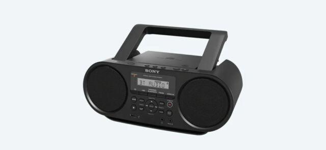 Sony ZSRS60BT CD Boombox Bluetooth NFC AM//FM USB Headphone Line-in Jacks USED