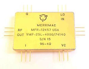 1pc Crane / Merrimac VMF-25L-4000 IQ Modulator Hermetic Flat Pack