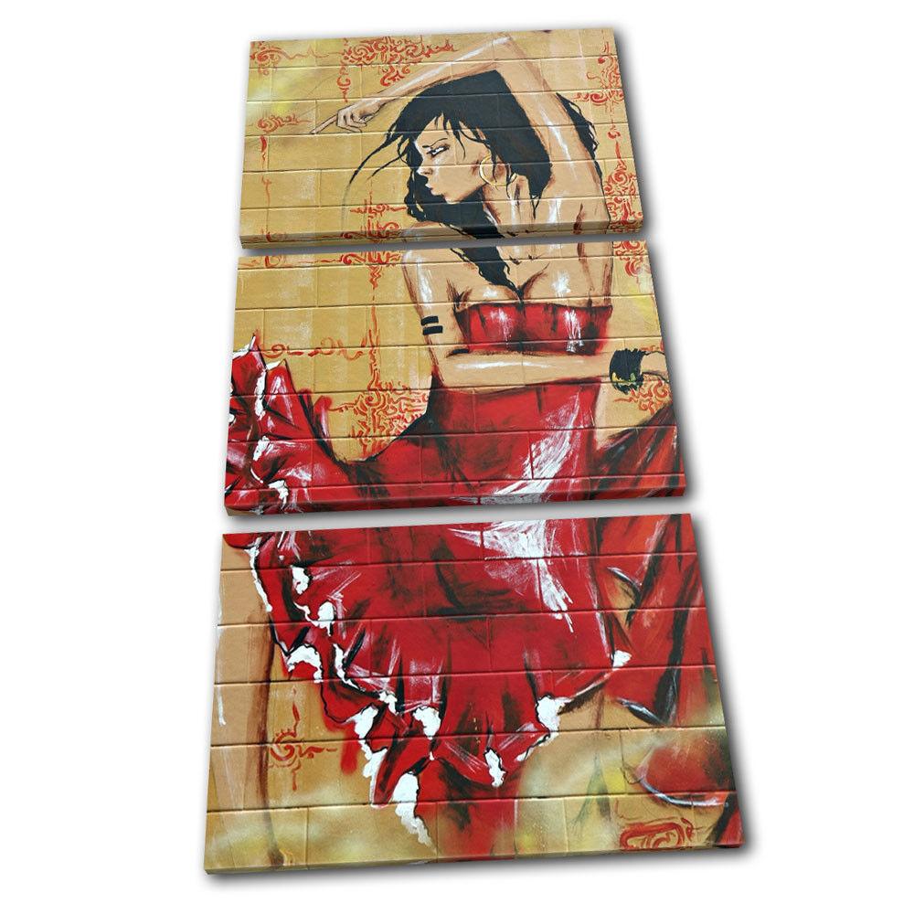 Street art Woman  Graffiti Graffiti Graffiti TREBLE TELA parete arte foto stampa 578113
