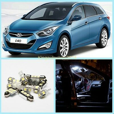 New!10x LED Bulbs White Interior Light Package Deal Kit For Hyundai i40 CW