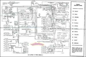 jaguar wiring diagram electrical xke e type 4 2 s2 1969 1971 ebay rh ebay co uk