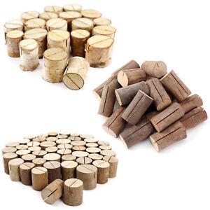 Rustique-En-Bois-Table-Decoration-Lieu-Nom-Lieu-Porte-cartes-Log-Nom-Porte-cartes