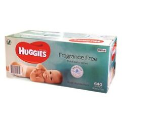 New 640 HUGGIES Thick Baby Wet Wipes Bulk Mega Pack Fragrance Free
