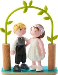 HABA-303165-Little-Friends-Brautpaar-Hochzeitspaar-Biegepuppen-Minipuppen