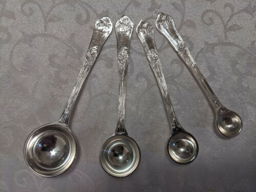BRAND NEW Victorian Trading Co Vintage Handle Silver Measuring Spoons Set of 4