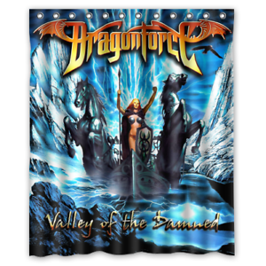 New DragonForce Valley of the Damned Album Custom Shower Curtain 60 x 72 Inch