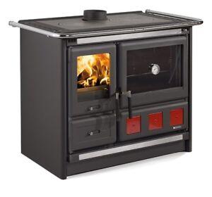 Stufa-cucina-a-legna-NORDICA-034-Rosa-XXL-034-8-5-Kw-colore-nero-antracite