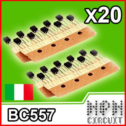 20X BC557 B TRANSISTOR PNP 100mA 45V stock