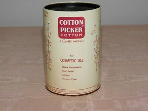 "VINTAGE OLD STORE  4 5/8"" HIGH KENDALL COTTON PICKER COTTON TIN CAN  *EMPTY*"