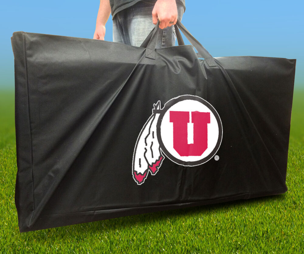 UTAH UTES Licensed CORNHOLE Board CARRYING CASE Storage Carry Bag