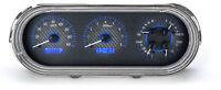 Dakota Digital 63 64 65 Chevy Nova Analog Dash Gauges Carbon Blue Vhx-63c-nov