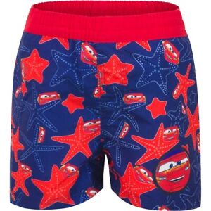 Cars McQueen Badeshorts Disney Pixar Badehose Badeshort Jungen Kinder Rot 98-128