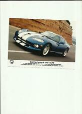 UK CHRYSLER VIPER GTS COUPE PRESS PHOTO  'BROCHURE RELATED'