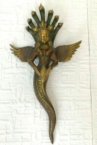 Antique-Naag-kanya-14-039-039-4-Snakes-Lady-Serpent-Buddha-Shamanism-Collectable