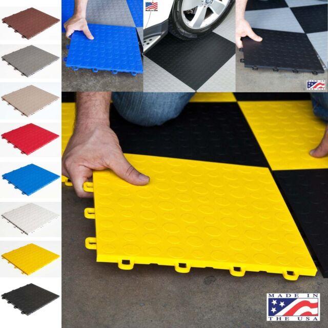 Garage Floor Tiles Ramp Edges Interlocking Black Mats Basement